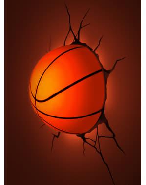Lámpara 3D de balón de baloncesto
