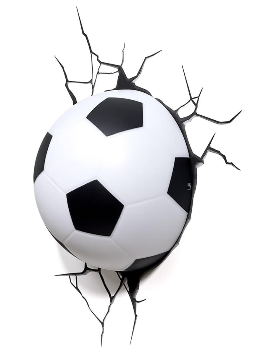 lampe d corative 3d ballon de football funidelia. Black Bedroom Furniture Sets. Home Design Ideas