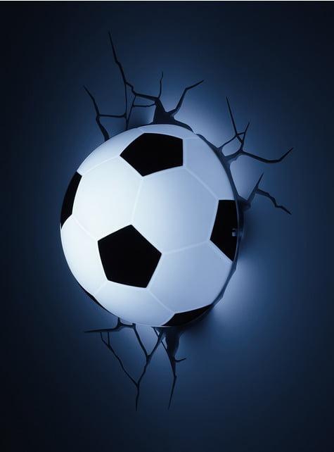 Candeeiro decorativa 3D bola de futebol