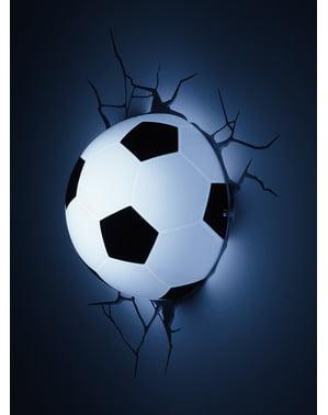 Candeeiro 3D de bola de futebol