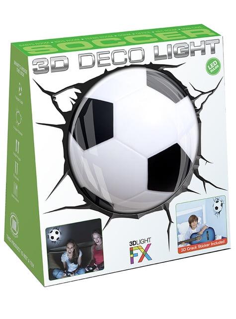 Lámpara 3D con forma de balón de fútbol - barato