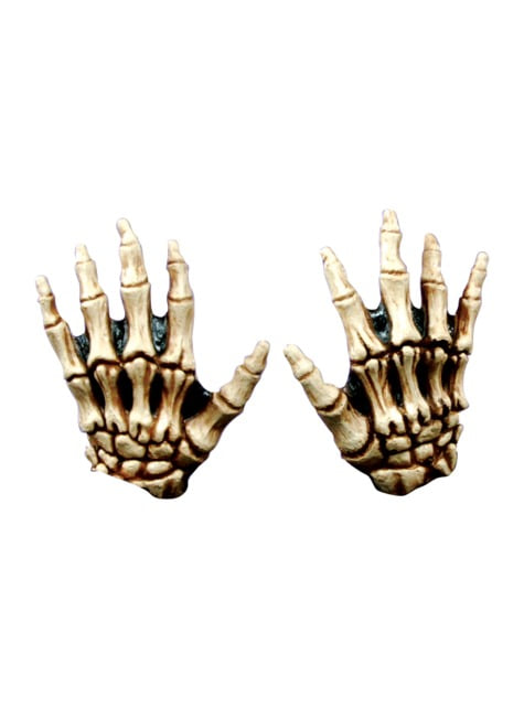 Händer Junior Skelettben färgade