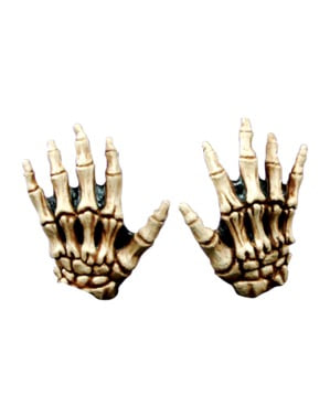 Junior Skeleton Hands Bone Coloured