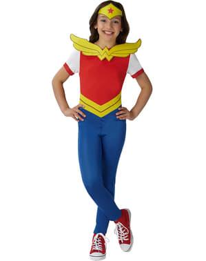 Fato de Wonder Woman comic para menina