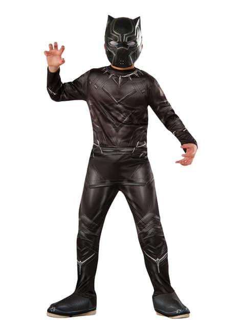 Kostium Czarna Pantera Kapitan Ameryka Civil War dla chłopca