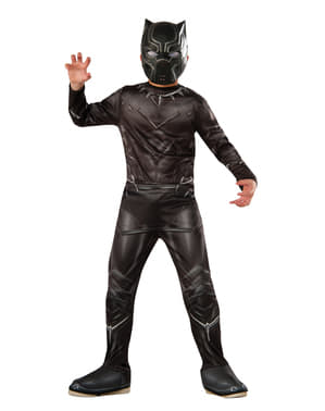 Fato de Pantera Negra Capitão América Civil War para menino