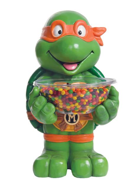 Porta caramelos de Michelangelo Tortugas Ninja