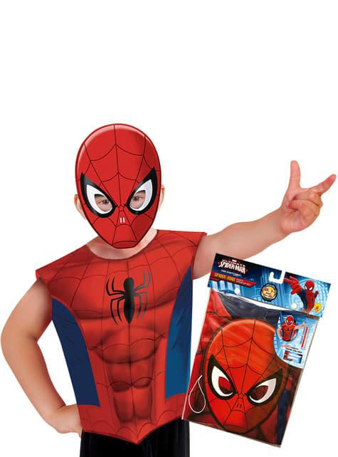 Kit disfraz de Spiderman para niño