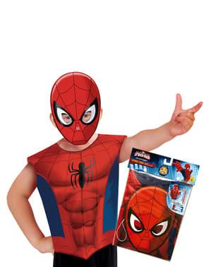 Kit costum Spiderman economic pentru băiat