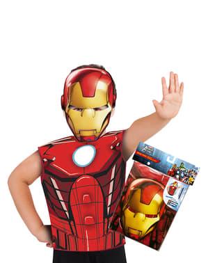 Kit costum Iron Man economic pentru băiat