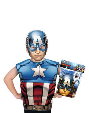 Kit fato de Capitão América económico para menino