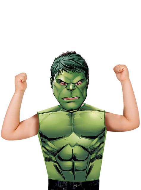 Kit fato de Hulk económico para menino