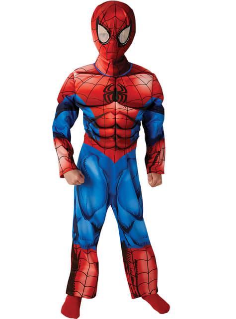 Disfraz de Ultimate Spiderman deluxe musculoso para niño