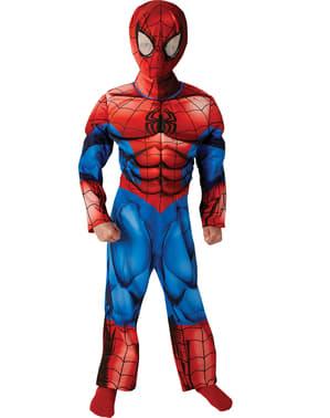 Fato de Ultimate Spiderman deluxe musculoso para menino