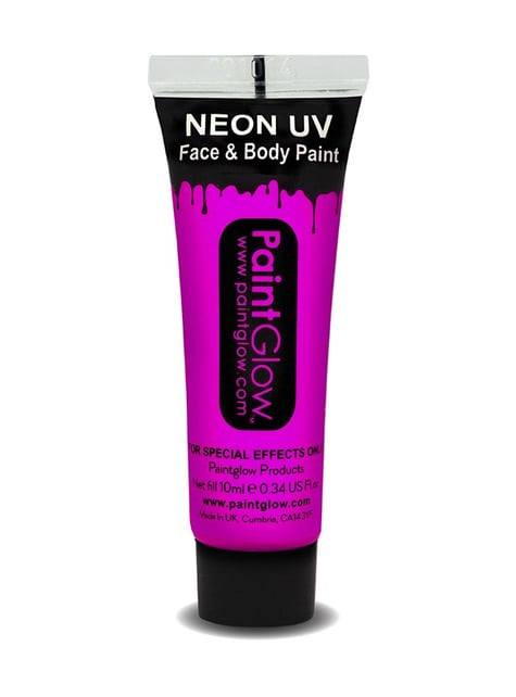 Bote de maquillaje fosforescente neón UV - Halloween