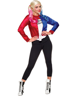Kit costum Harley Quinn Suicide Squad pentru femeie