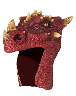 Chapéu de dragão vermelho para adulto