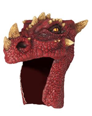 Gorro de dragón rojo para adulto