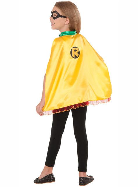 Robin maske og kappe til piger