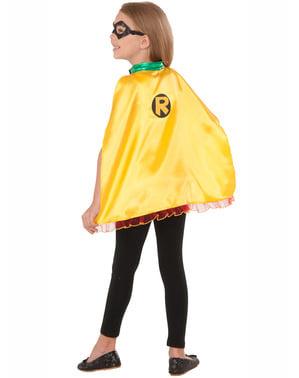Kit de antifaz y capa de Robin para niña