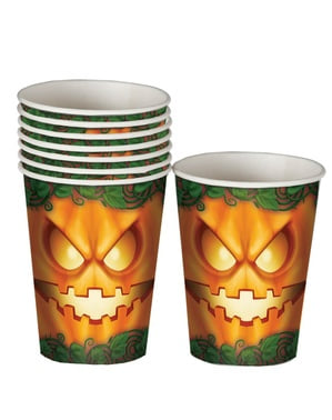 Pumpkin glasses 10 cm