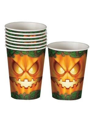 8 Pumpkin 10cm cups