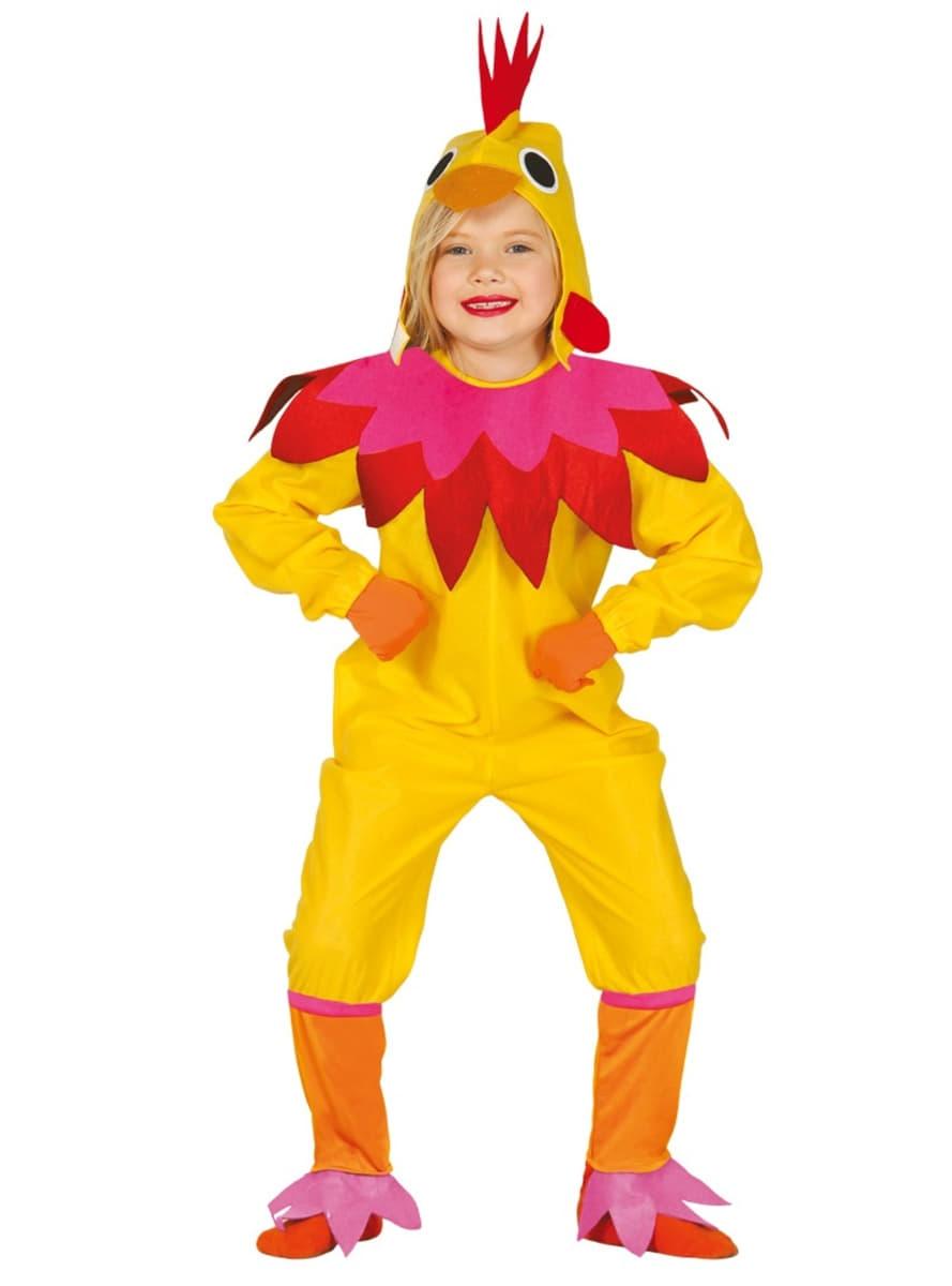 Costume da gallina divertente infantile i pi divertenti for Una decorazione e formata da cinque rombi simili