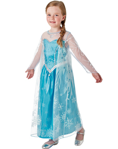 Deluxe Elsa Frozen Costume For A Girl