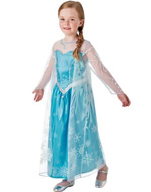 Maskeraddräkt Elsa Frozen deluxe för barn