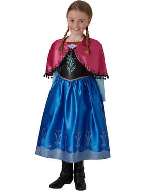 Costum Anna Regatul de gheață (Frozen) deluxe pentru fată