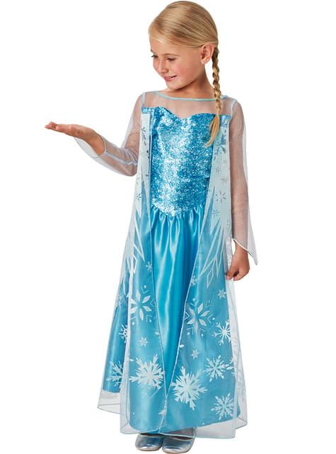 Fato de Elsa Frozen rainha do gelo para menina