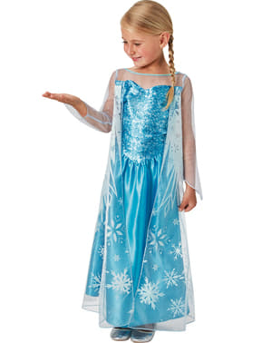 Elsa Frozen Snow Queen costume for a girl