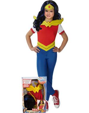 Costum Wonder Woman classic pentru fată în cutie