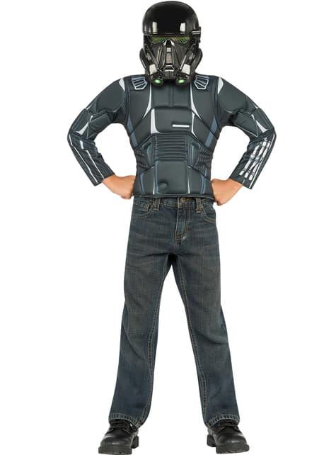 Kit disfraz de Death Trooper Star Wars Rogue One musculoso infantil en caja