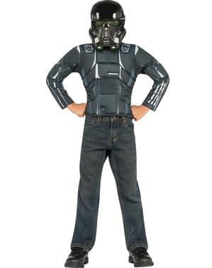 Kit de déguisement Death Trooper Star Wars Rogue One musclé pour enfant (boîte vitrine)