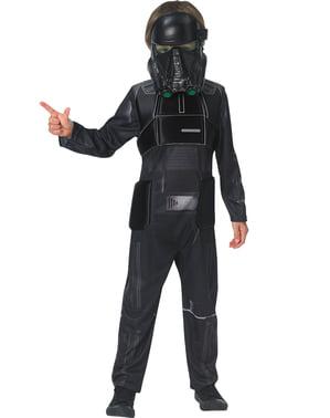 Fato de Death Trooper Star Wars Rogue One deluxe para criança
