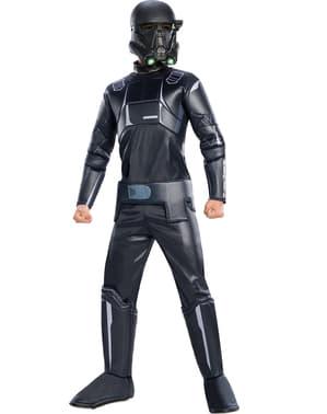 Fato de Death Trooper Star Wars Rogue One premium para criança