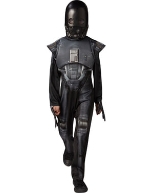 Maskeraddräkt K-2SO Star Wars Rogue One deluxe för barn