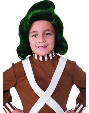 Perruque Oompa Loompa Charline et la Chocolaterie enfant