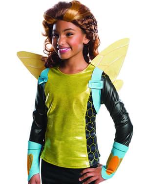 Peruca de Bumblebee DC Comics para menina