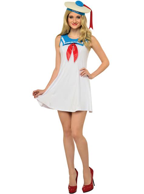 Disfraz de Marshmallow Los Cazafantasmas sexy para mujer