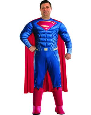 Man Plus Size Deluxe Superman: Batman v Superman Costume