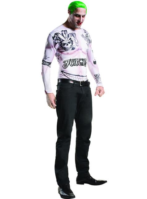 Kit fato de Joker Esquadrão Suicida para homem