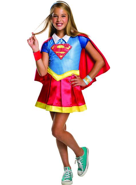 Girl's Deluxe Supergirl Costume