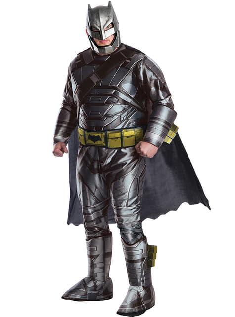 Disfraz de Batman armadura Batman vs Superman para hombre talla grande