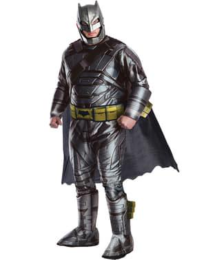 Fato de Batman armadura Batman vs Super-Homem para homem tamanho grande