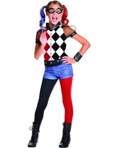Harley Quinn kostume classic deluxe til piger