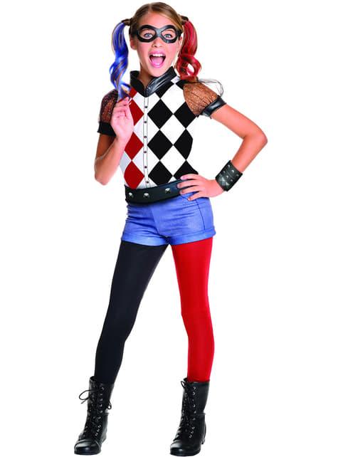 Maskeraddräkt Harley Quinn classic deluxe för barn