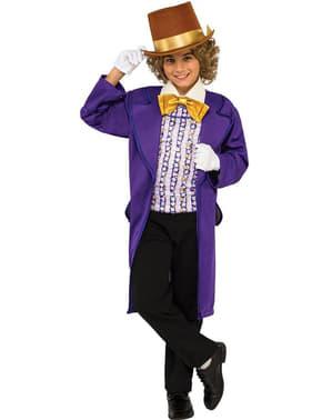 Fato de Willy Wonka para menino