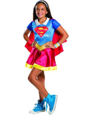Tyttöjen Supergirl- asu